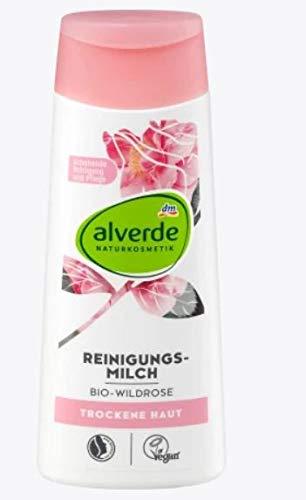 Reinigungsmilch mit Bio-Wildrose   NATURKOSMETIK   Für eine schonende Reinigung und Pflege   Befreit Ihre Haut sanft von Make-up und Schmutzpartikeln   trockene und sensible Haut   200 ml