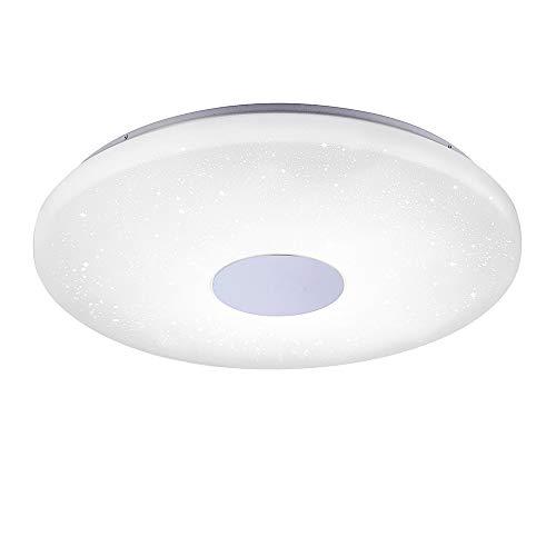LED Deckenlampe in Sternenhimmel-Optik, rund, Ø60cm | dimmbare Deckenleuchte mit Farbtemperatursteuerung, warmweiß - kaltweiß | Sternenlicht-Deckenbeleuchtung mit Fernbedienung