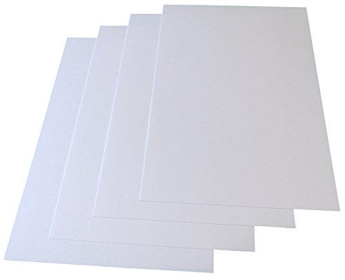 Weiße Blanko-Briefkarten, Postkarten DIN A6 - 50 Stück - (sehr zäher Karton) verschiedene Mengen, Grammatur 246g/m² (22761)
