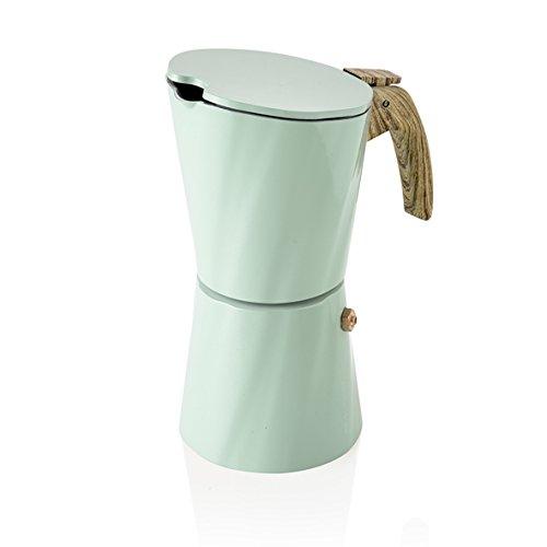 Brandani 54901 Torre Vintage 4 tazas Cafetera Tiffany Marfil, Multicolor