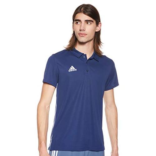 adidas Core18 Polo Shirt, Maglietta Uomo, Blu (Blu Scuro/Bianco), XL