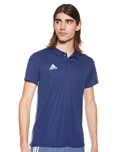 Adidas Core18 Camiseta Polo, Hombre, Dark Blue/White, M