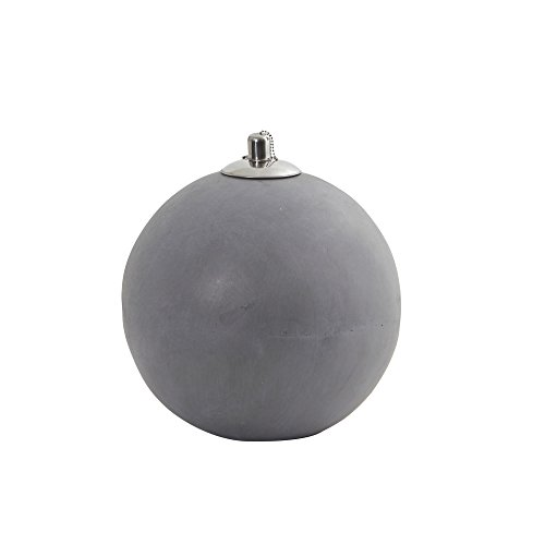 Nearly Natural Outdoor Sphere Shaped Oil Lamp Silver