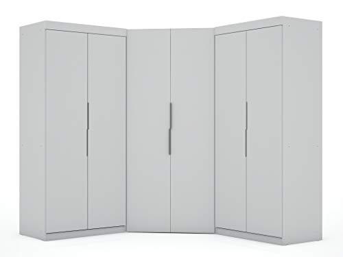 Manhattan Comfort Mulberry Modern 3.0 Sectional Wardrobe Corner Closet with 4...