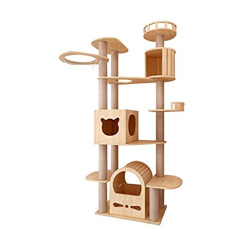 Shelf Condominio y Torres Casas de árboles para Gatos con Postes rascadores, Plataforma y Hamaca extraíbles, Muebles de Juego para el Centro de Actividades para Gatos para Gatitos, ga