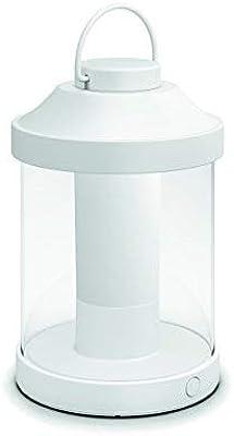 Philips 1736031P0 myGarden Laterne Abelia, Plastik, 350 lm, weiß, 15 x 15 x 23 cm