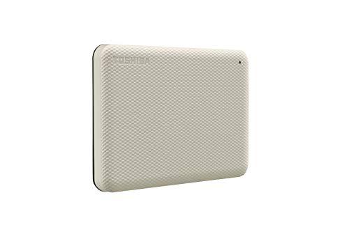 Toshiba Canvio Advance 1TB Portable External Hard Drive USB 3.0, White - HDTCA10XW3AA