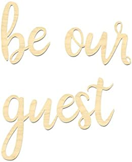 M. Dallas Co Be Our Guest Sign- Guest Room Sign (Large Set)