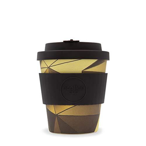 Ecoffee Vasos reutilizables de 250 ml con tapa de silicona, fabricados con fibra de bambú natural, (Swanston & Collins)