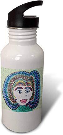 GFGKKGJFD624 Jos Fauxtographee- Jos - Muñeca sintética con corte bajo - Una chica con un corte en muchos colores y labios completos botella de agua deportiva de aluminio novedoso para hombres y mujeres, niños, regalos de Navidad