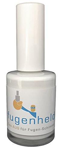 Anti-Schimmel Fugenfarbe/Fugenstift, extra gut abdeckende Farbe, schimmelresistent / 1x15ml (Weiß)