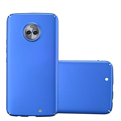 Cadorabo Hülle für Motorola Moto X4 - Hülle in Metall BLAU – Hardcase Handyhülle im Matt Metal Design - Schutzhülle Bumper Back Case Cover