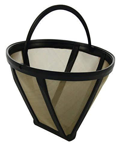Goldton Kaffee-Dauerfilter Größe 2 für bis zu 6 Tassen Mehrfachfilter abwaschbar Edelstahlfilter