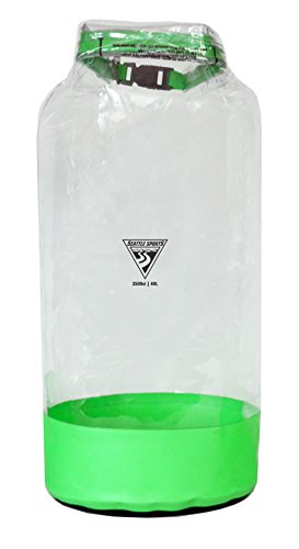 Seattle Sports Glacier Clear Heavy Duty Waterproof Dry Bag - USA Made (XS 5L, Lime)