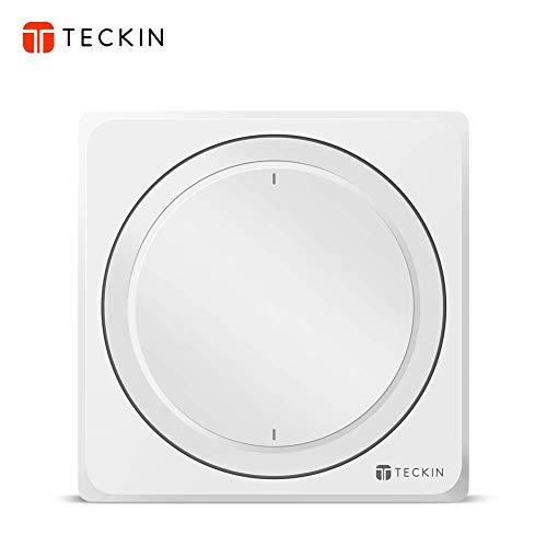 TECKIN Interruptores Inteligentes de pared,compatibles con Alexa,Google Home, Interruptores WiFi Inteligentes con control remoto y de voz,Ajuste del Temporizador, No Se Sequiere Hub.