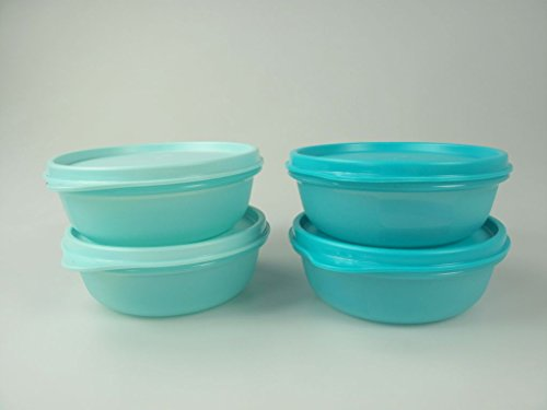 TUPPERWARE Astral caja 300ml turquesa brillante (2) + 300ml turquesa (2) 6621