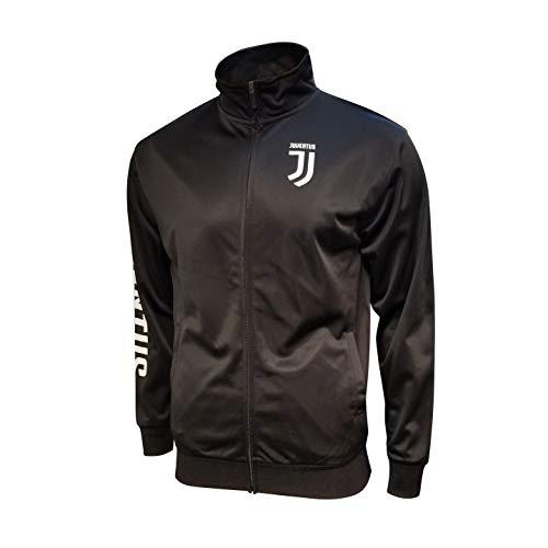 Icon Sports Juventus F.C. Full Zip Track Jackets (Medium, Black - Sleeve Wordmark Print)