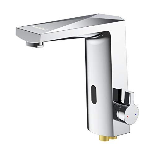 LEPO Touchless Sink Sensor Faucet, Automatic Motion Sensor Bathroom Sink Faucet Single Handle Brass Faucets Ideal for Kitchen Bathroom Basin Hotel