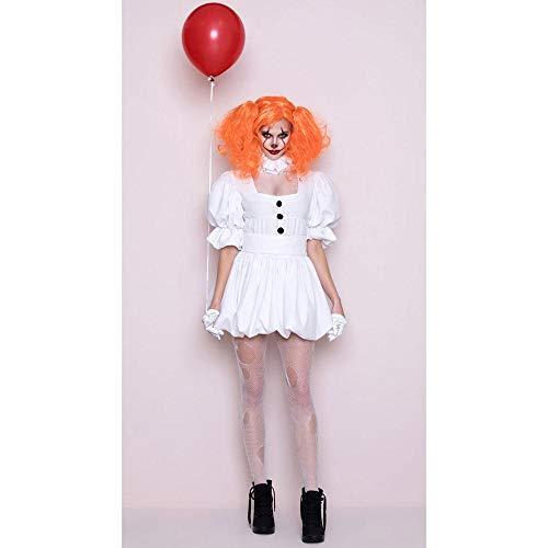 Halloween La Sra. Cosplay Novia Vampiro Vestido De Payaso Espectáculo Clown Regresar Alma Halloween Costume,Imagen Color, XL