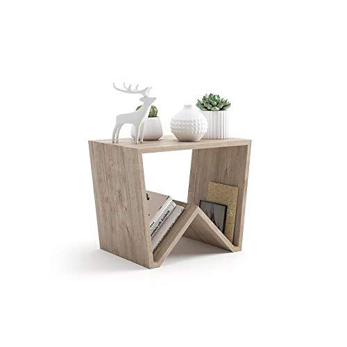 Mobili Fiver, Tavolino da Salotto Emma, Quercia, 50 x 33 x 40 cm, Nobilitato, Made in Italy