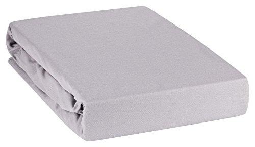 Moon Premium Spannbetttuch Spannbettlaken Wasserbett und Matratzen Line Silver 180x200-200x220-graphit