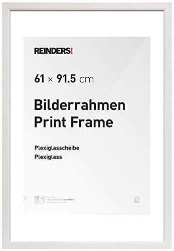 REINDERS Bilderrahmen für Maxi-Poster 61x91,5cm Wechselrahmen Holzoptik Weiß Romantic