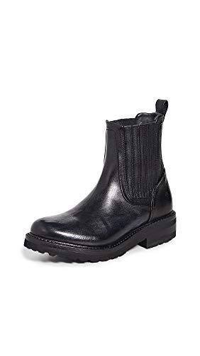 FRYE Women's Ella Moto Chelsea Boot, Black, 8 M US