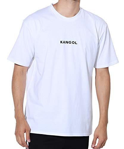 KANGOL(カンゴール) 別注 ロゴ刺繍 メンズ 半袖Tシャツ クルーネック ボックスロゴ カットソー M ホワイト ...