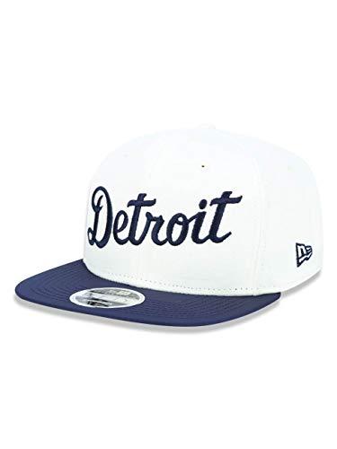 New Era 9FIFTY Detroit Tigers Baseball Cap - The Lounge - Creme - Marineblau - S/M