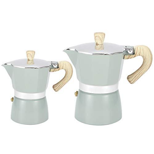 Zerodis Cafetera Octogonal, Aluminio Moka Pot Moka Mocha Espresso Pot Cafetera Estufa Cafetera Superior(6)