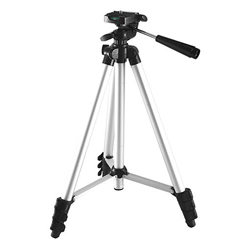 Trípode Profesional Portátil para la Cámara, DV, SLR, Telescopio, Trípode Avanzada 16-52 Pulgadas de Aleación de Aluminio Compacta Ajustable