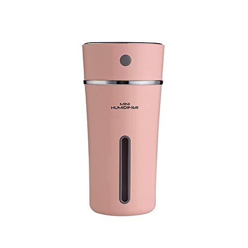 ランドセル,ハンドバッグ 軽量で便利な、カップ型の加湿器、ミニチュアカーUSB空気清浄機、創造的な電池式、いつでも使用できる夜光を加湿するために使用されます。 ショルダーバッグ (Color : Pink)