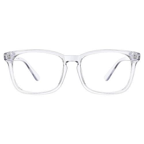 TIJN Blue Light Blocking Glasses for Women Men Clear Frame Square Nerd Eyeglasses...