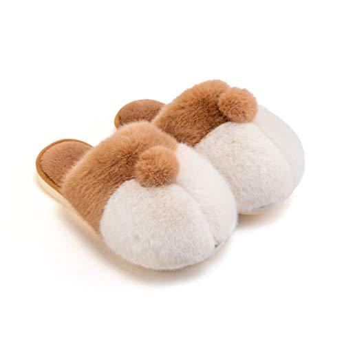 SHJMANSY Cute Zapatillas Peluche De Animales - Lindo Cadera Corgi Pantuflas - Regalo Zapatos por Casa - Adultos Y Niños - Hombre Y Mujer Regalo, Yellow, 27-28