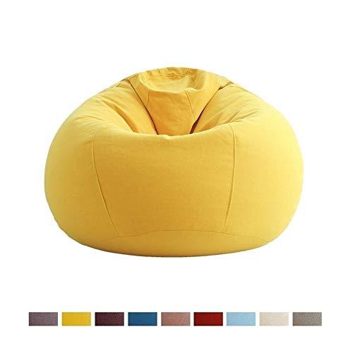 Puffs pera Sillón Mediano para Niños, Adolescentes Y Adultos - Sillones Grandes Y Elegantes con Funda Extraíble - Muebles Tumbonas para Todas Las Edades, 4 Colores (Color : Yellow)