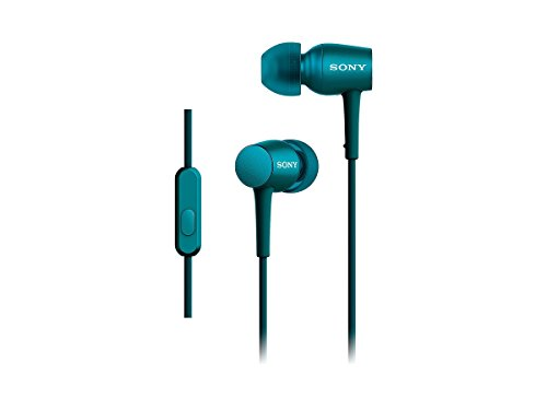 SONY h.ear in canal type earphone High-Resolution sound with remote control microphone viridian Blue MDR-EX750AP / L