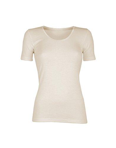 Dilling Merino T-Shirt für Damen - aus 100% Bio-Merinowolle Natur 40