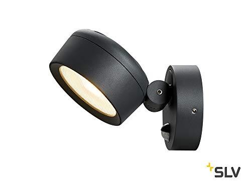 SLV LED Wandleuchte ESKINA für die Außenbeleuchtung von Wänden, Wegen, Eingängen, LED Strahler, Wand-Lampe aussen, Down-Light, Aussenleuchte LED, Wegeleuchte // CCT Switch (3000K/4000K), 1000lm, 14,5W