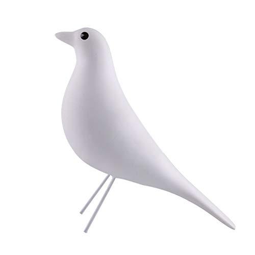 KKJJ Estatua de Pájaro Decoración Paz Paloma Decoración, Moderna de para la Paz Pájaro Paloma Estatua Figuritas de Resina de Pie, Creativo Modelo Pájaro Artificial para el Hogar,Blanco