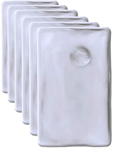 HomeTools.eu®, 6cuscinetti scaldamani, scaldatasche. Minicuscini in gel autoriscaldanti, a lunga durata, riutilizzabili. 10x 6,5cm. Confezione da 6 pezzi