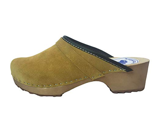 Handgefertigte schwedische Clogs aus Naturleder | klassische Clogs | Clogs für Frauen | Clogs Schuhe | Maßgeschneiderte farbige | Lederclogs