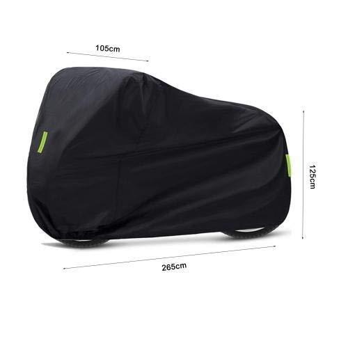 Cubierta de Motocicleta Super Grande UV Protección Impermeable PVC Scooter Scooter Almacenamiento Exterior (Color : Black)