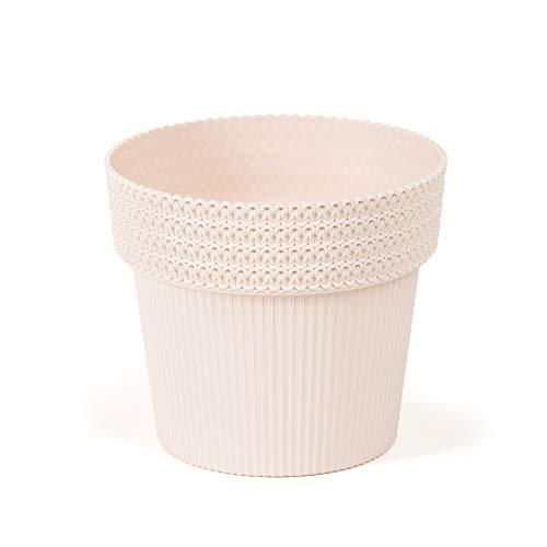 Lamela SimplyTheBest - Maceta para plantas de hierba, diseño de pola, 13 cm de diámetro, para colgar en el alféizar de la ventana, recipiente para jardín, balcón, color beige