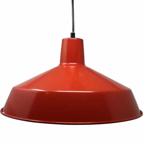 "12"" Diameter Commercial Grade Vintage Barn Style Hanging Pendant (Red)"