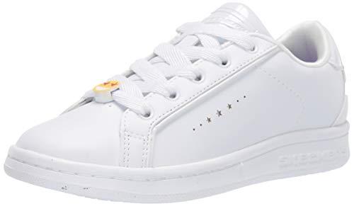 Skechers Omne Class Star, Sneaker Donna, Bianco (White Dura Leather Wht), 43 EU