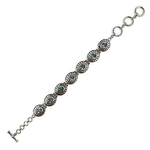 BestPysanky Blue Topaz Sterling Silver Bracelet