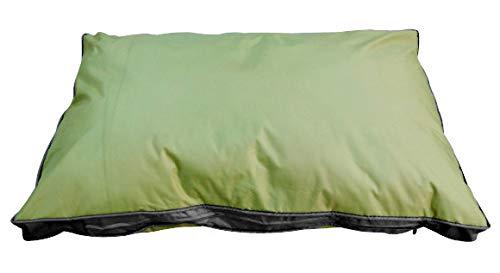 SAUERLAND Outdoor-Hundekissen 120 x 80 cm XXL, grün, Robustes und wasserdichtes Material, Liegekissen, Hundekissen für draußen