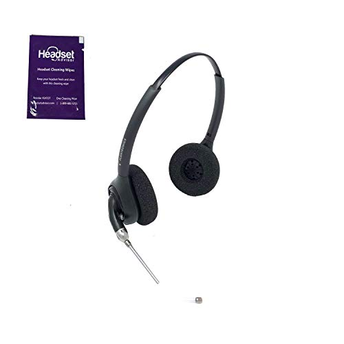Plantronics HW261 Wired Headset Bundle with Headset Advisor Wipe (Certified Refurbished)