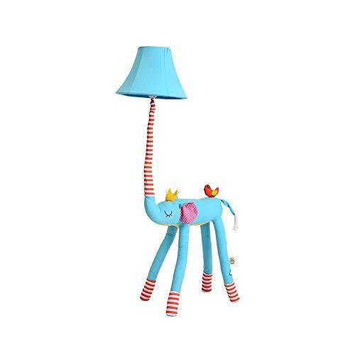 LY88 Lichte Vloerlamp, Blauwe Olifant Modelling Leuke Creatieve Kinderen/Meisjes Kamer Doek Stof Nachtkastje Vloerlamp Kleur : A