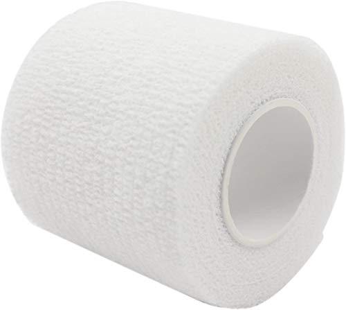 PintoMed - Dehnbare Kohäsive Bandage Fixierband - 10 x Weiß - 5cm x 4,5m - Insesamt 10 Stuck, 5cm breit, 4,5m Dehnbare, elastische kohasive selbsthaftende Sport fixierbinde